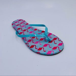 LC Lauren Conrad shoes flip flops flamingo size 7